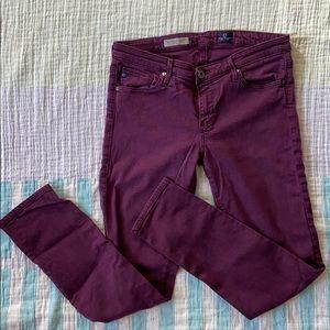 AG Stevie ankle jeans, purple, size 28R